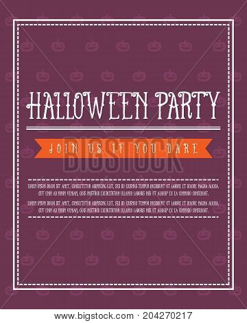Design Halloween poster collection stock vector illustration