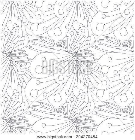 anti stress, art, background, black and white, black line, design element, eps 10, floral, flowers, for adult coloring page, for print, for wallpaper, illustration, jpeg, monochrome, pattern, seamless, stock, swirls, texture, thin line, vector, web