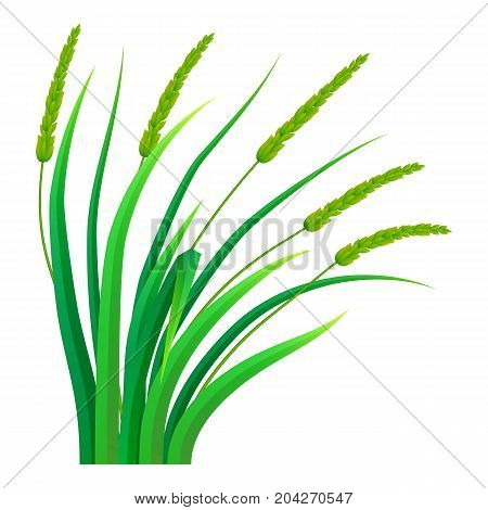 Bunch of grass icon. Realistic illustration of bunch of grass vector icon for web design isolated on white background