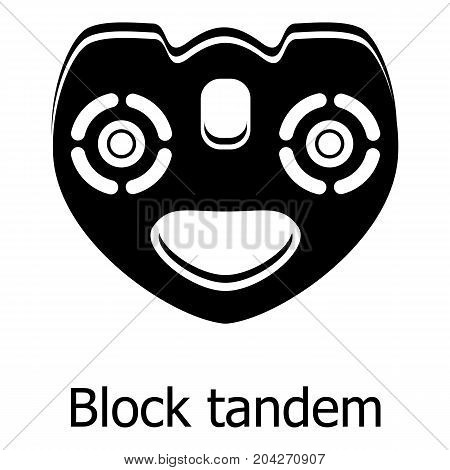 Block tandem icon. Simple illustration of block tandem vector icon for web