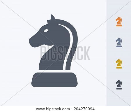 Horse Chess Piece - Carbon Icons. A professional, pixel-perfect icon designed on a 32x32 pixel grid and redesigned on a 16x16 pixel grid for very small sizes
