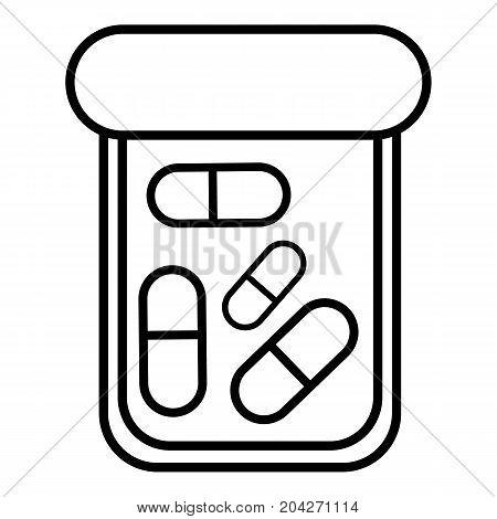Bottle drug icon. Outline illustration of bottle drug vector icon for web design isolated on white background