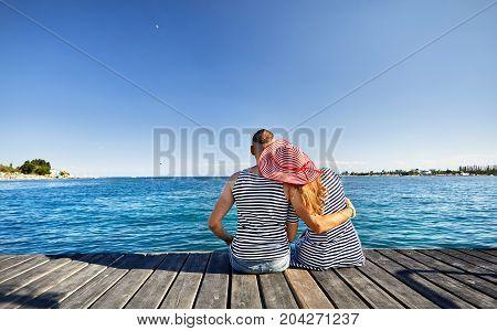 Couple At Issyk Kul Lake