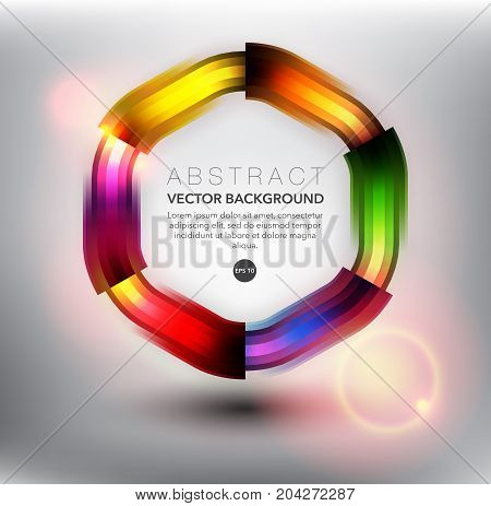 Abstract vector background. Colorful geometric background. Can be used for poster, brochure, flyer and advertisement material. Vector illustration. Eps10.