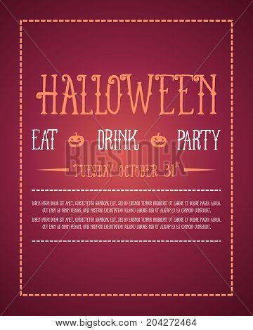 Collection stock Halloween poster style vector illustration