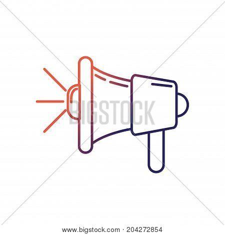 line megaphone tool to speaker communication message vector illustration