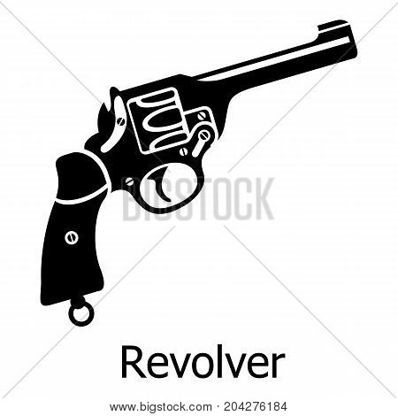 Revolver icon. Simple illustration of revolver vector icon for web