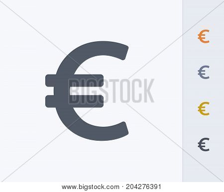 Euro Sign - Carbon Icons. A professional, pixel-perfect icon designed on a 32x32 pixel grid and redesigned on a 16x16 pixel grid for very small sizes