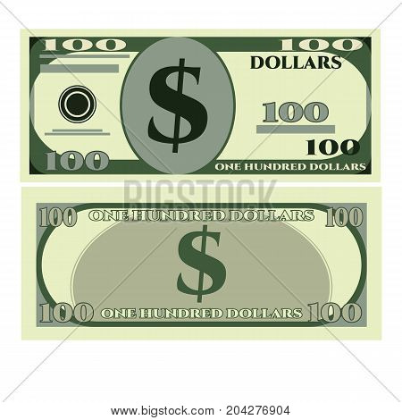 Dollar greenbacks icon. Realistic illustration of dollar greenbacks vector icon for web design isolated on white background