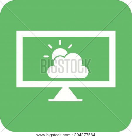Weather, news, forecast icon vector image. Can also be used for news and media. Suitable for mobile apps, web apps and print media.