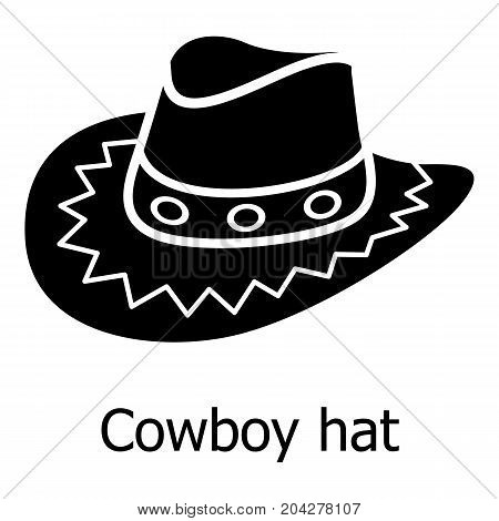 Cowboy hat icon. Simple illustration of cowboy hat vector icon for web