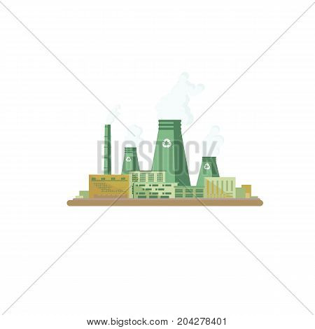 Recycling plant.  Sorting garbage. Ecology and recycle concept. vector flat illustrations.