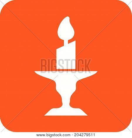 Candle, wax, stand icon vector image. Can also be used for funeral. Suitable for mobile apps, web apps and print media.
