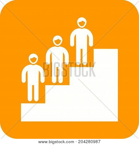 Personality, development, graph icon vector image. Can also be used for soft skills. Suitable for mobile apps, web apps and print media.
