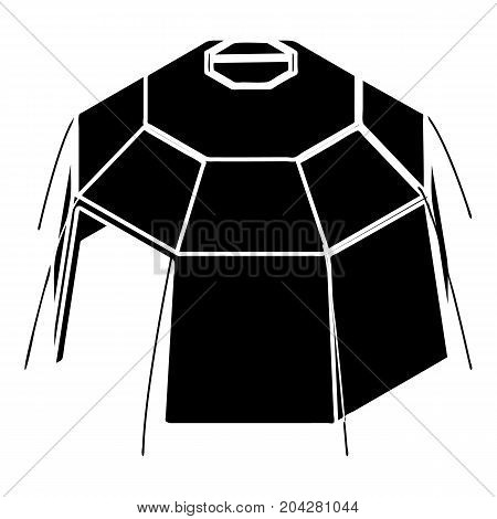 Hexagonal tent icon. Simple illustration of hexagonal tent vector icon for web design isolated on white background