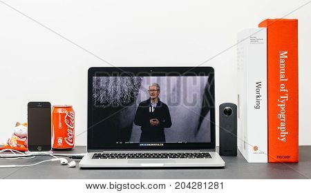 Apple Keynote With Steve Jobs In Memory Of Tim Cook,