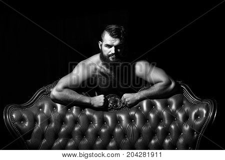 Bearded Man With Bare Chest