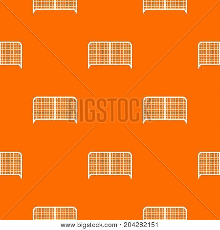 Gate pattern repeat seamless in orange color for any design. Vector geometric illustration