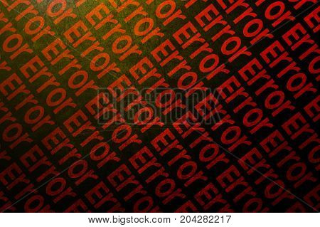 red error code abstract pattern illustration background