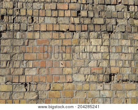 Texture of a stone wall brickwork building