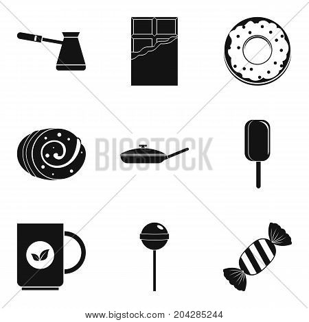 Candy and coffee icon set. Simple set of 9 candy and coffee vector icons for web design isolated on white background