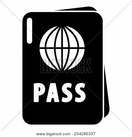 International passport icon . Simple illustration of international passport vector icon for web design isolated on white background