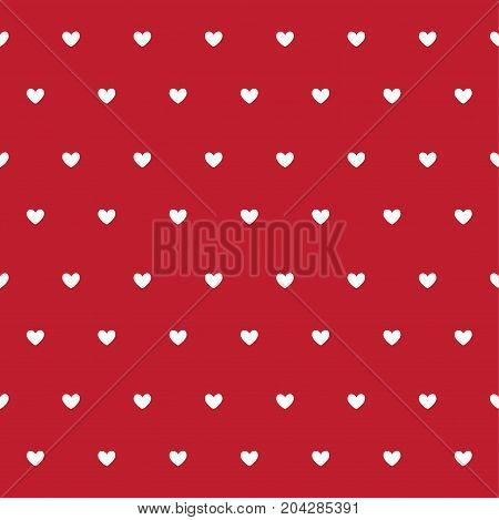 Valentine`s Day card, hearts and vector illustration