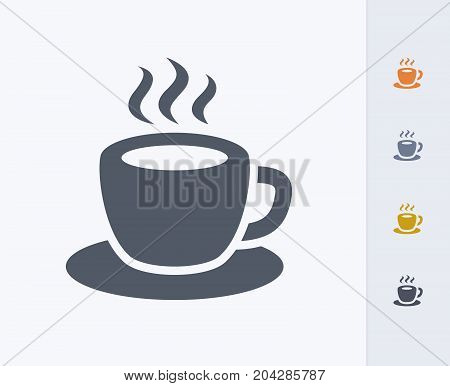 Coffee Cup - Carbon Icons. A professional, pixel-perfect icon designed on a 32x32 pixel grid and redesigned on a 16x16 pixel grid for very small sizes