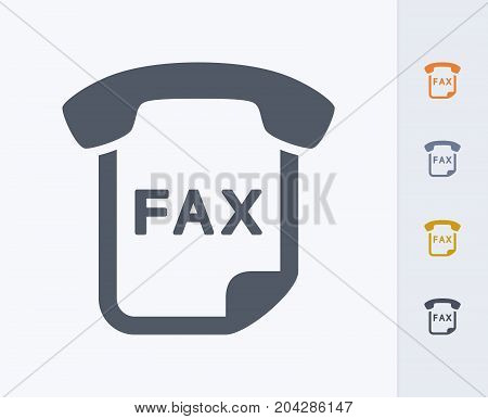 Fax Message - Carbon Icons. A professional, pixel-perfect icon designed on a 32x32 pixel grid and redesigned on a 16x16 pixel grid for very small sizes