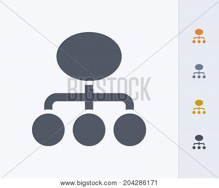 Management Diagram - Carbon Icons. A professional, pixel-perfect icon designed on a 32x32 pixel grid and redesigned on a 16x16 pixel grid for very small sizes