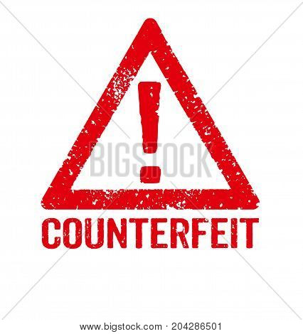 A Red Stamp On A White Background - Counterfeit