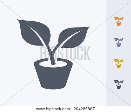 Potted Plant - Carbon Icons. A professional, pixel-perfect icon designed on a 32x32 pixel grid and redesigned on a 16x16 pixel grid for very small sizes