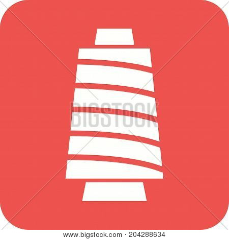Spool, thread, bobbin icon vector image. Can also be used for Sewing. Suitable for mobile apps, web apps and print media.