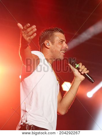 Vicenza, Vi, Italy - September 5, 2017: Live Concert Of Gabbani Francesco An Italian Singer-songwrit