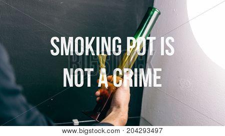Bongs For Smoking Pot Close-up Soft Focus. Smoking Culture Of Weed Buds