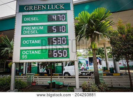 Gasoline Station In Yangon, Myanmar