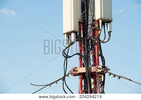 mounting of sector antennas and tower extensions and telecommunications equipment