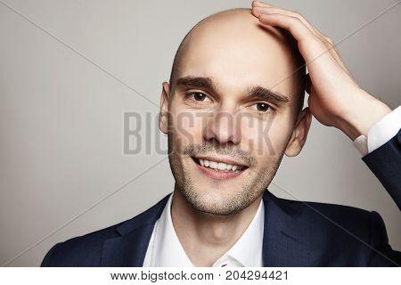 Handsome Bald Smiling Man