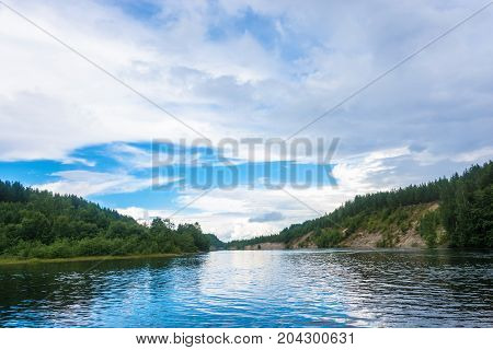 Water Landscape On The Pioneer Channel, Karelia.