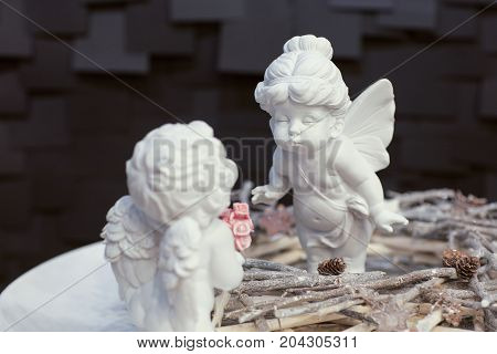 Angel Figurine From Porcelain