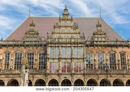 Facade Of The Historical Town Hall Of Bremen