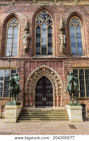 Entrance To The Historical Town Hall Of Bremen