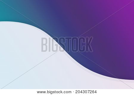 Blue and purple with curve copy space modern background backdrop