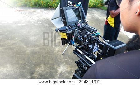 Behind The Scenes Of Movie Or Video Shooting Production.