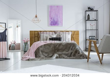 Pastel Pink Cushions In Bedroom