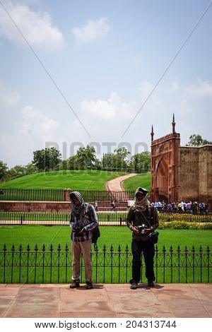 Ancient Fort In Agra, India
