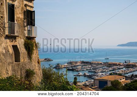 View of the port of Tropea, holiday