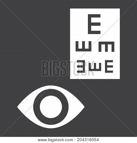 Optometry glyph icon, medicine and healthcare, eye sign vector graphics, a solid pattern on a black background, eps 10.