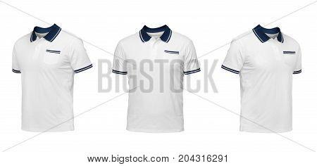 Set Of T-shirts Isolated On White Background