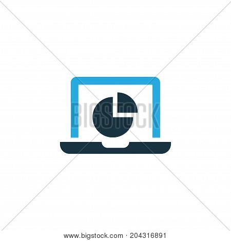 Premium Quality Isolated Infographic Element In Trendy Style.  Monitor Colorful Icon Symbol.